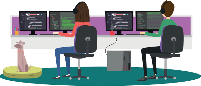 UKFast Developers Illustration