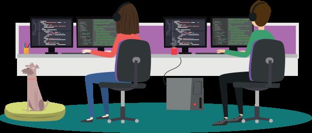 UKFast Developers Illustration